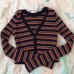 Urban outfitters crop striped cardigan NWOT